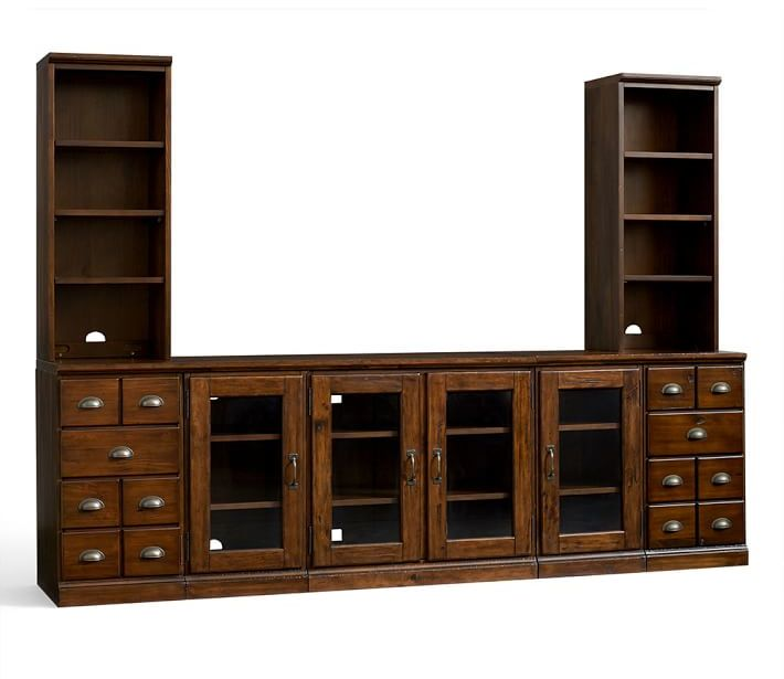 Large Media Suite with Cabinets