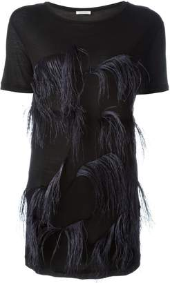 Nina Ricci feather-embellished top