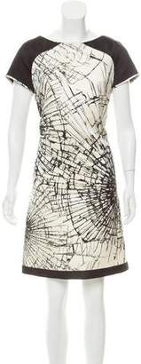 Giles Printed Satin Dress
