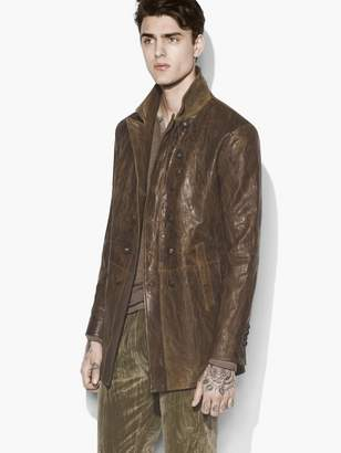 John Varvatos Burnished Double Breasted Coat