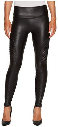 Spanx Faux Leather Moto Leggings Women's Casual Pants