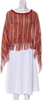 Missoni Crochet-Accented Fringe Poncho