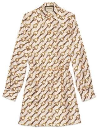 Gucci Silk dress with stirrups print