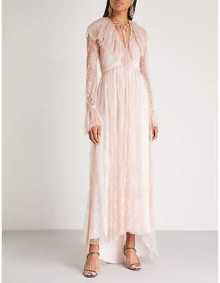 Philosophy di Lorenzo Serafini Floral-embroidered lace maxi dress