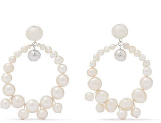 Dinosaur Designs Pearl Earrings - White