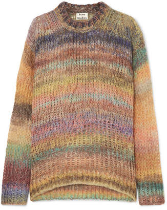 Acne Studios Striped Open-knit Sweater - Yellow