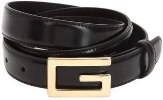 Gucci 25mm G-Cube Leather Belt