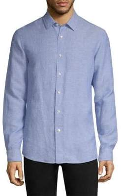 Michael Kors Classic Long-Sleeve Button-Down Shirt