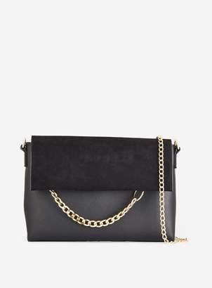 Dorothy Perkins Womens Black Chain Ring Clutch Bag