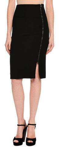 TOM FORD Side-Zip Fitted Pencil Skirt, Black