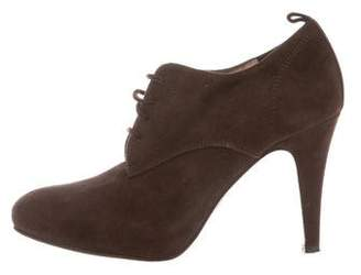 Gianvito Rossi Suede Lace-Up Booties