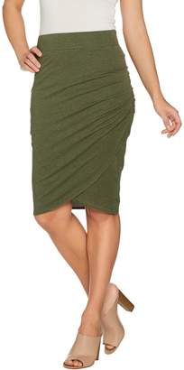 Logo By Lori Goldstein LOGO Lounge by Lori Goldstein French Terry Tulip Skirt w/ Pleated Side