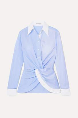 J.W.Anderson Twist-front Paneled Cotton-poplin Shirt
