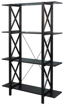 Bed Bath & Beyond Emily Double Bookcase - Black