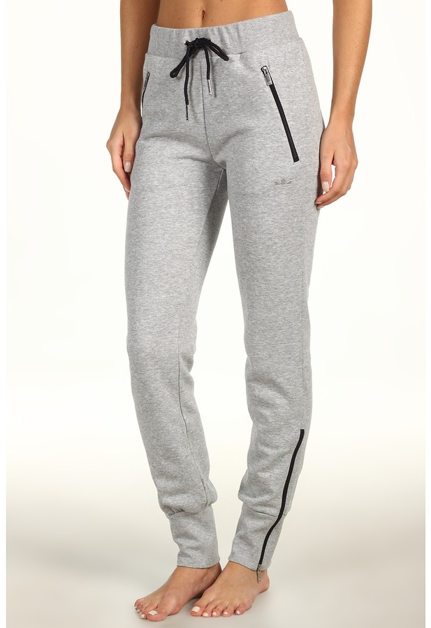 adidas French Terry Track Pant (Medium Grey Heather) - Apparel