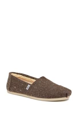Toms Speckled Faux Shearling Lined Slip-On Shoe