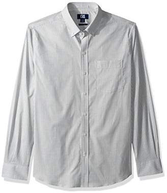 Cutter & Buck Men's Epic Easy Care Stretch Oxford Stripe Button Down Shirt