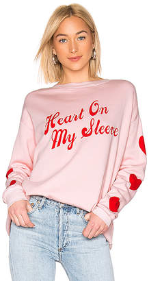 Wildfox Couture Heart On My Sleeve Roadtrip Sweater