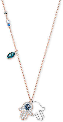 Swarovski Two-Tone Multi-Crystal Hamsa Hand Pendant Necklace