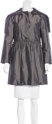 Miu MiuMiu Miu Button-Up Knee-Length Coat