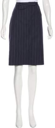 Brooks Brothers Pin-Stripe Knee-Length Skirt