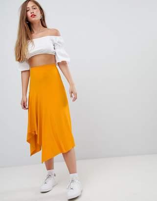 Bershka slinky midi skirt