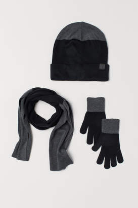 H&M Hat, Scarf, and Gloves - Black