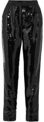Dolce & Gabbana Sequined Satin Tapered Pants