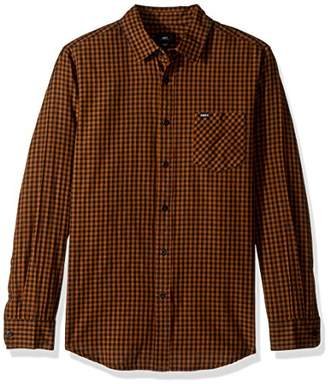 Obey Men's Aston Woven Long Sleeve Button Up Shirt