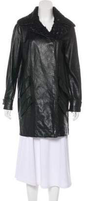 Chanel Metallic Tweed Lambskin Coat