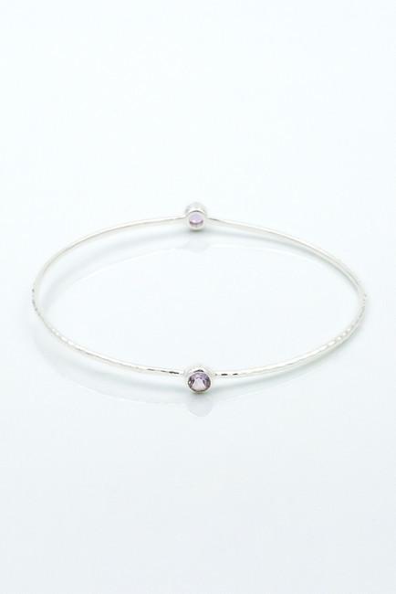 Exex Design Jewelry Sterling Silver Oak Hill Gemstone Bangle