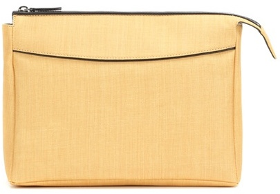 The Row Two For One leather-trimmed clutch