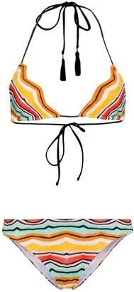 Missoni Mare Multicoloured zig zag triangle bikini