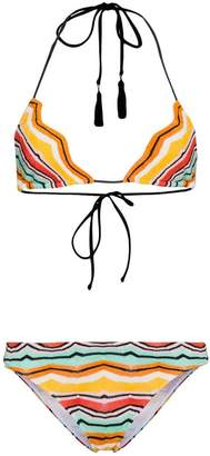Missoni Multicoloured zig zag triangle bikini
