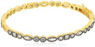 Freida Rothman Womens Signature Mixed Shaped Hinge Bangle Bracelet