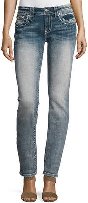 Miss Me Straight-Leg Embellished Pocket Jeans, Light Blue 81 $79 thestylecure.com