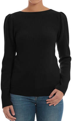 Minnie Rose Black Cashmere Sweater