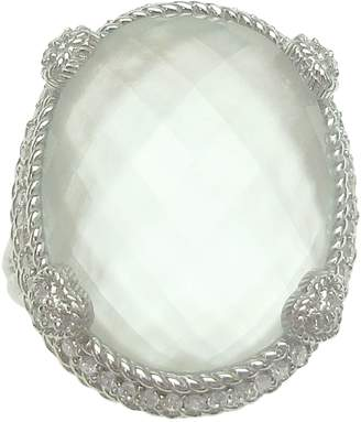 Judith Ripka Sterling Mother-of-Pearl Doublet Ring