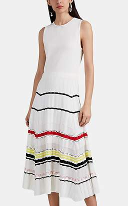 Proenza Schouler Women's Striped Knit Dress - White