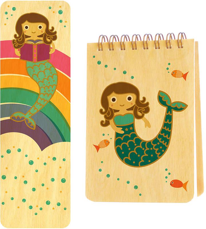 Mermaid Wood Mini Notepad & Bookmark
