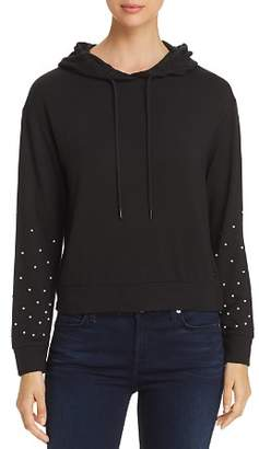 Andrew Marc Faux Pearl Embellished Hoodie