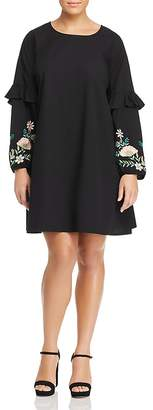 Junarose Cheryl Embroidered Long-Sleeve Dress