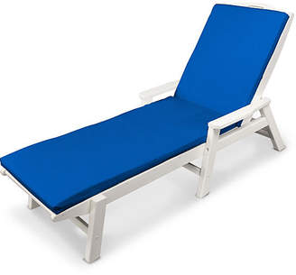 Polywood Nautical with Arms Chaise - Pacific Blue