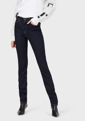 Emporio Armani J21 Super Skinny Jeans In Stretch Denim