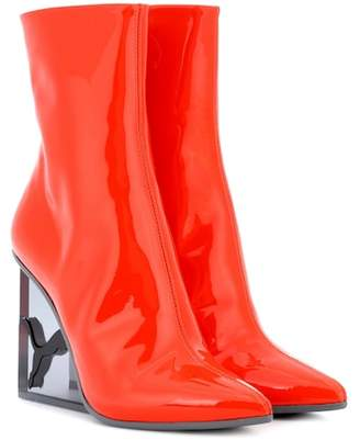 Rihanna Fenty by Patent leather ankle boots