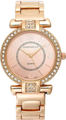 Charter Club Women's Rose Gold-Tone Bracelet Watch 35mm