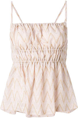 M Missoni gathered front top