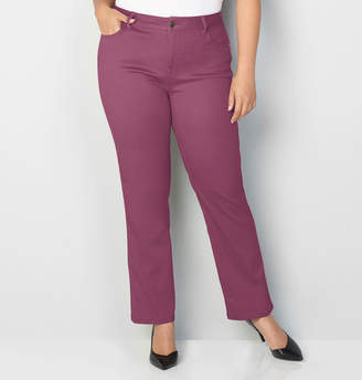 Avenue Butter Denim Straight Leg Jean in Mauve Wine