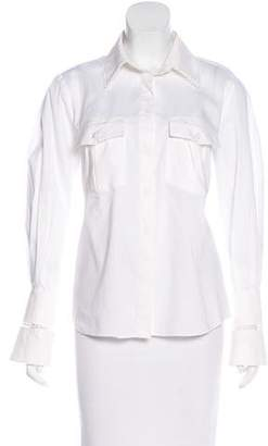 Magda Butrym Crochet-Trimmed Button-Up Top