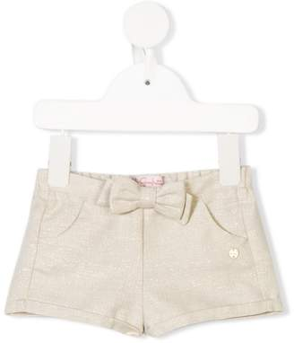 Lili Gaufrette bow front tweed shorts
